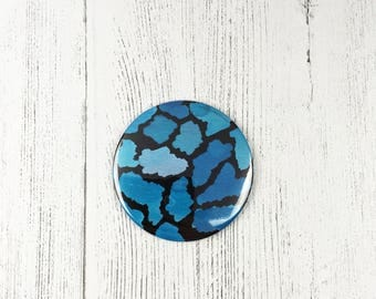 Blue Watercolour Pattern / Pocket Mirror / Small Gift  For Mum / Gifts For Women / Bridal Shower Gift / Easter Gift / Small Birthday Gift