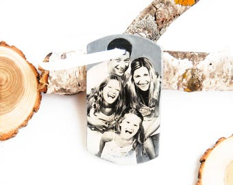 Personalized Family Christmas ornament, Custom Family portrait, Family gift idea, Ceramic photo Christmas tree ornament,Family ornament gift