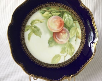 Vintage Rosenthal Porcelain Plate with Peaches