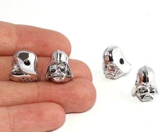 Starwars beads, Starwars charms, Starwars Helmet Charms, Charms, Men Bracelet Charms,Starwars Helmet Beads,RCP7