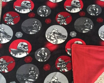 Homemade, Star Wars, storm troopers, two sided, fleece, throw, blanket