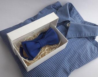 Royal Blue Bowtie Wedding bow tie Stylish bow tie Groom accessory Wedding photo props Blue bow tie Royal blue wedding Valentine gift