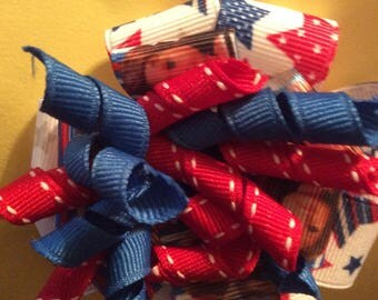 4th of July/ Labor Day hair bows for girls
