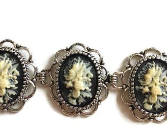 Silver Filigree Bracelet, Floral Bracelet, Filigree Bracelet, Silver Bracelet, Filigree Jewelry, Floral Jewelry, Silver Jewelry