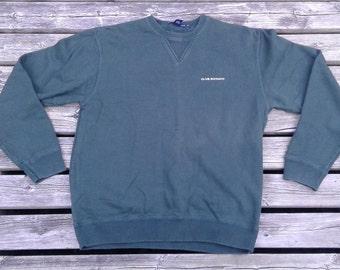 Vintage 90's Club Monaco Crewneck Sweatshirt Forest Green Made in Canada Small