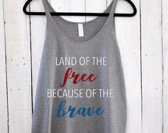 Land of the Free, slouchy tank top
