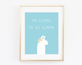 Llama Print, Aztec Nursery, Cactus nursery, Boho Print