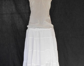 Maggie buttercream eyelet cotton wedding dress also for Simple cotton wedding dress