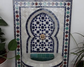 Fountain in Zellige coupon 25% for apartment or terrace - Original Morocco _Liquidation in stock before the holidays