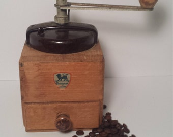 vintage french made Peugeot coffee mill grinder