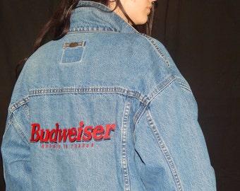 Vintage Budweiser Denim Jacket