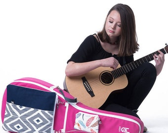 Pink GiGY Bag Acoustic Guitar Case   Travel, Junior Size   Customizable