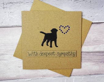 Dog sympathy card: thinking of you card, Handmade loss of a Labrador card, Dog condolences card, Death of a pet card, With sympathy dog card