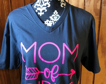 Mom of Girls Tshirt, Mothers Day,