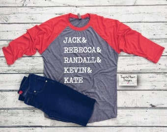 This Is Us Shirt, This Is Us  Raglan, Jack Pearson, Jack & Rebecca, This Is Us Squad, This Is Us Quote, The Big Three