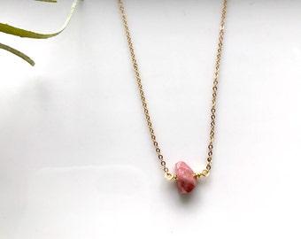 Tourmaline Necklace / Layering Necklace / Delicate Gemstone Necklace / October Birthstone / Minimalist Necklace / Dainty stone pendant
