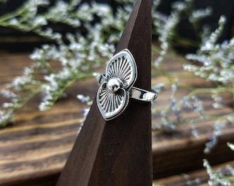 Modern Southwest Sun Ring / Sterling Silver Ring / Minimal Southwest Ring / Handmade Ring/ Southwest Wedding Ring / Stocking Stuffer