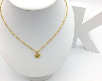 24 K Gold Lotus Flower necklace