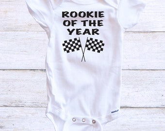 Rookie of the Year Racing Onesie - Racing Onesie - Race Fans - Baby Race Fan - Baby Onesie - Stock Car Racing - Baby Gift - Motocross - BMX