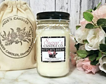 Soy Candles Handmade - Halloween Candle - Scented Candle - 16 oz Soy Candle - Mason Jar Candle - Soy Candles - Container Candles