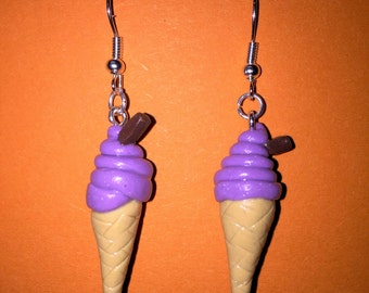 Ice Cream Cone Dangle Earrings
