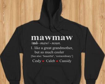 Mawmaw shirt, mawmaw gift, mawmaw sweatshirt, mawmaw hoodie, shirt for mawmaw, gift for mawmaw, mawmaw christmas shirt,mawmaw christmas gift