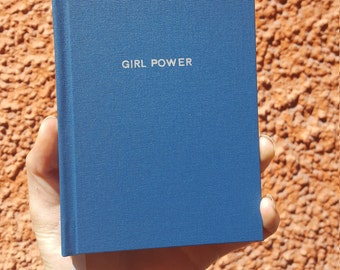 GIRL POWER Notebook / Sketchbook / Journal - Handmade - Unique - A6 - Feminist collection