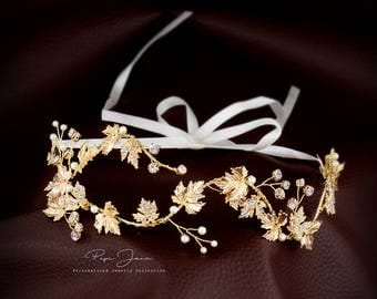 Wedding Ribbon Headband Bridal Headpiece Bridal Hair Comb Bridal hair vine Wedding hair accessories Bridal hair piece Wedding hair piece