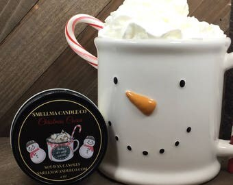 Christmas Cocoa Candle, Soy Candle, Scented Candle, Handmade Soy Candle, Candles, Candle Favors, Scented Soy Candle, Home Decor, 4oz