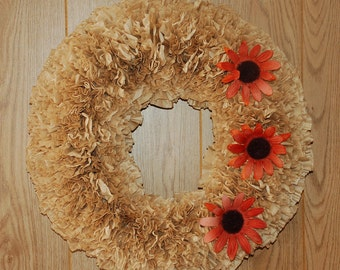 Fall Wreath with Flowers