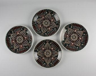 Set of 4 Portmeirion Magic City Dinner Plates