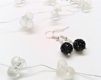 925 sterling silver Crystal beads Earrings
