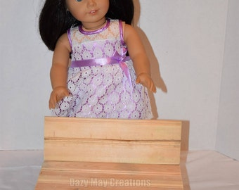 "18"" Doll  Wood Park Bench"