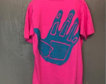 XL vintage 1990 Body Glove hot pink t shirt * surf