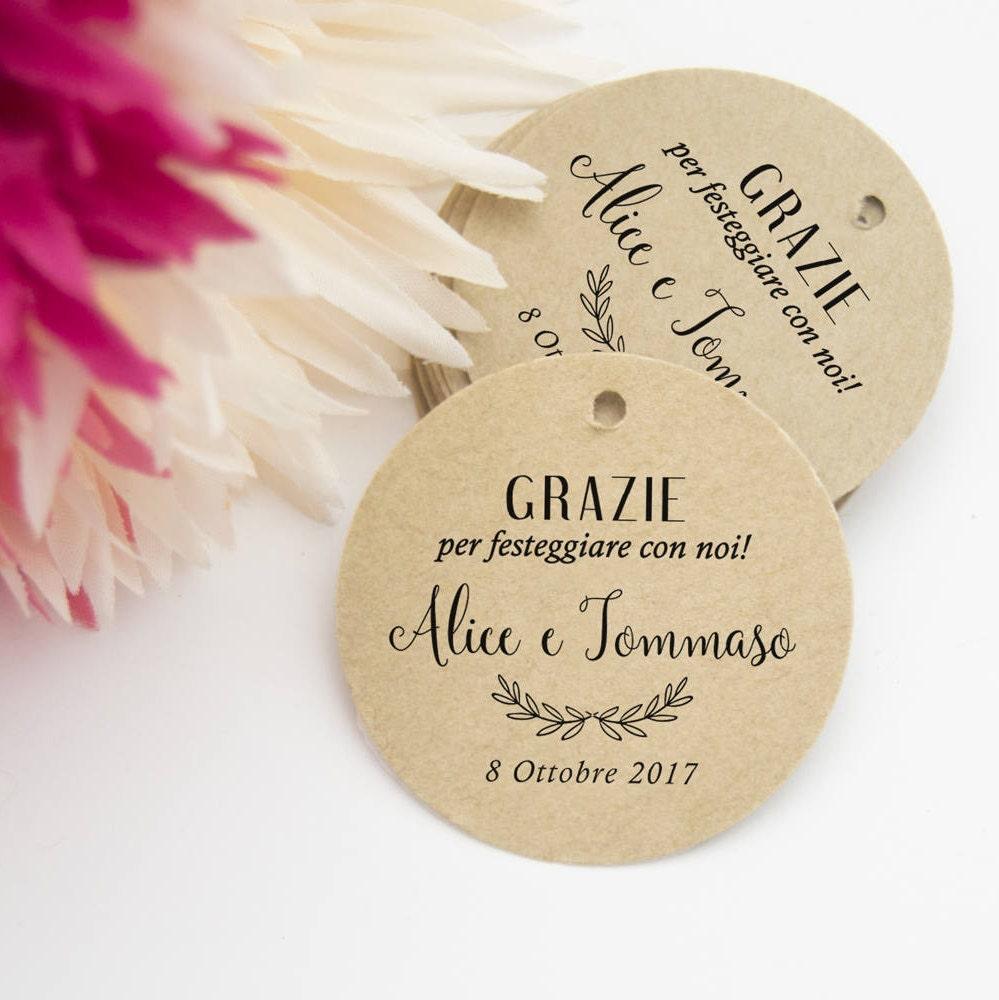 Connu Etichette per Bomboniere Etichette Ringraziamento in Carta ZA26