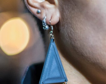 Earings || Geometry || Triangles || 3D Printed || Pendant || Necklace || Gift for her
