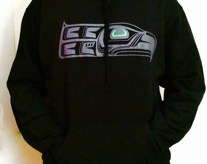Green Eye Totem Seahawk on hoodies and tees
