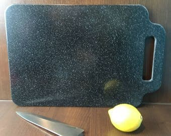 Corian Chopping Board Black With Silver Flecks