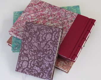 small notebook binder pattern lace relief