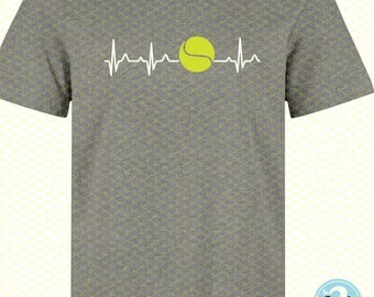 Tennis SVG, DXF, PNG, Eps Cutting File, Tennis Ball Svg File, Tennis Clipart, Silhouette Studio, Cricut, Tennis  T-shirt,