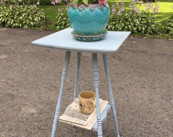 Vintage, Chic, Antique, Chalky, Distressed, Plant Stand