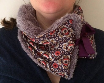 foulard - col en fausse fourrure pour femme