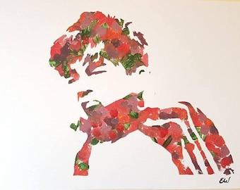 Declan McKenna Original Floral A4 Painting