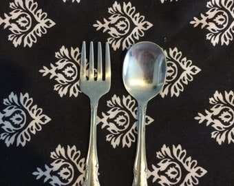 Vintage Child's Silvertone Fork and Spoon Made in Mexico