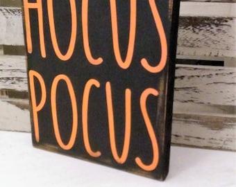 Hocus Pocus wood sign, Halloween mini wood sign, HOCUS POCUS