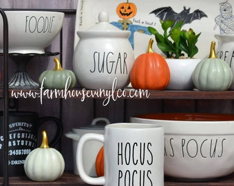 Rae Dunn Inspired Hocus Pocus Vinyl Decal~Psychic~Witch's Brew~Rae Dunn Decal~Kitchen~Farmhouse~Fall Decor~Rae Dunn Mug Decal~Halloween