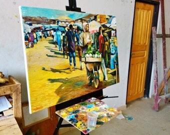 African Market Scene