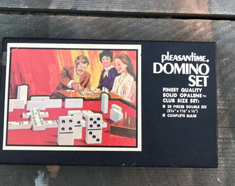 Vintage Domino set by Pleasantime model no. 1617