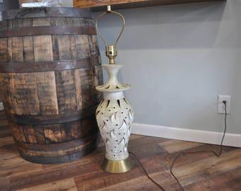 Vintage Moon & Stars Tall Table Lamp