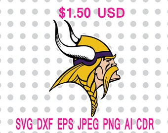 Minnesota Vikings Logo Svg Dxf Eps Png Jpg Cdr Ai Cut Vector File Silhouette Cameo Cricut Design Vinyl Decal